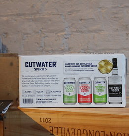 Cutwater Vodka Soda Mixed 8 pack (2 Cucumber, 2 Lime and 4 Grapefruit) - CA (8 x 12oz cans))