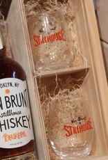 Van Brunt Stillhouse Bourbon Gift Set with 2 Glasses - Red Hook, Brooklyn (375ml)