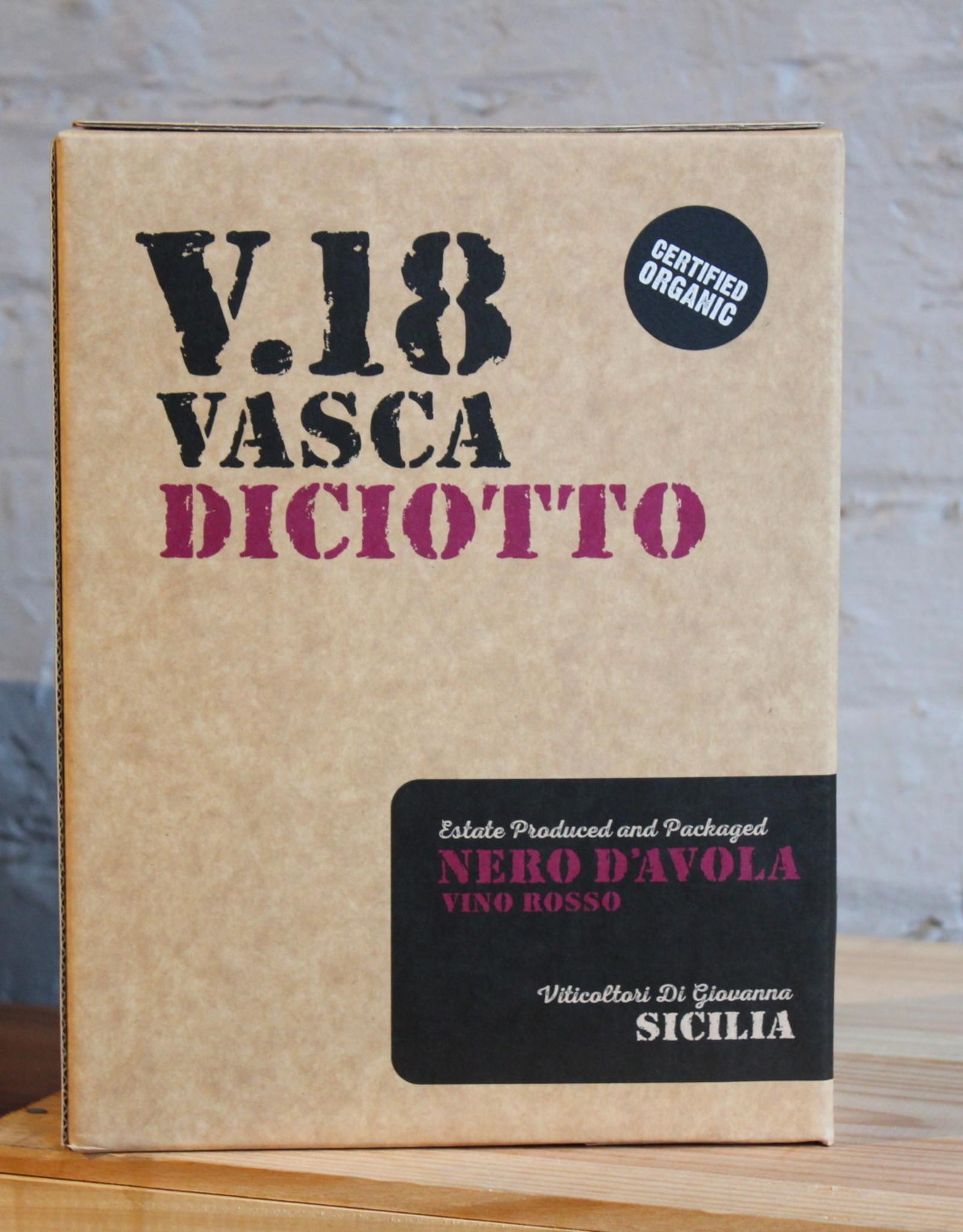 Wine 2019 Vasca Diciotto V.18 Nero d'Avola - Sicily, Italy (3Ltr Bag in a box)