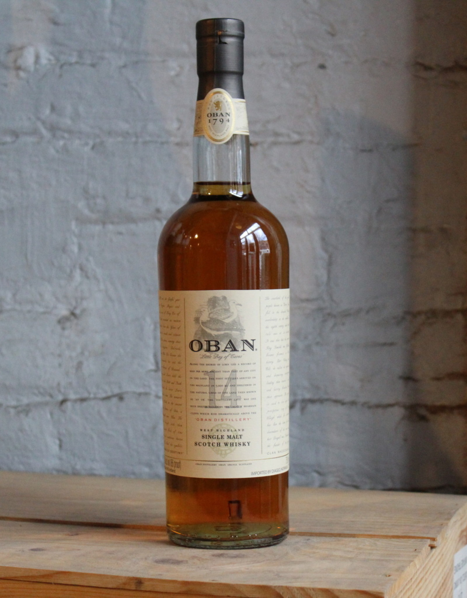 Oban 14 Yr Single Malt Scotch Whisky - West Highland, Scotland (750ml)
