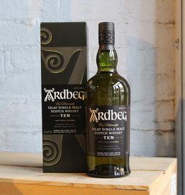 Ardbeg 10yr Single Malt Scotch Whisky - Islay, Scotland (750ml)