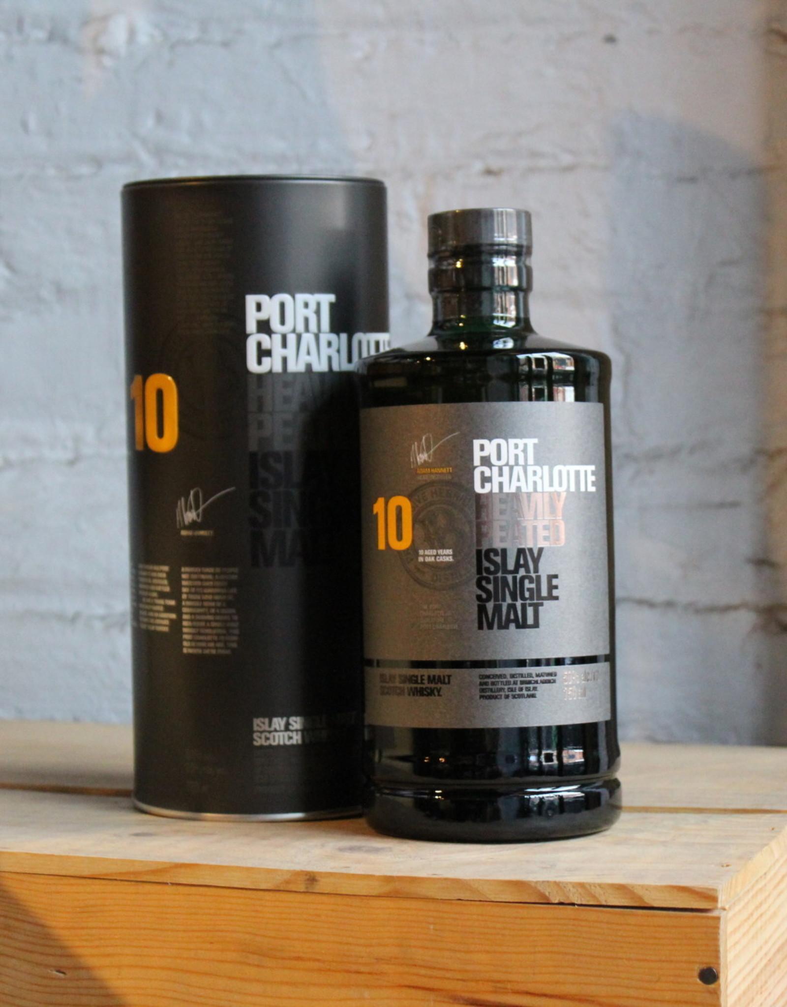 Port Charlotte 10yr Heavily Peated Single Malt Scotch Whisky - Islay, Scotland (750ml)