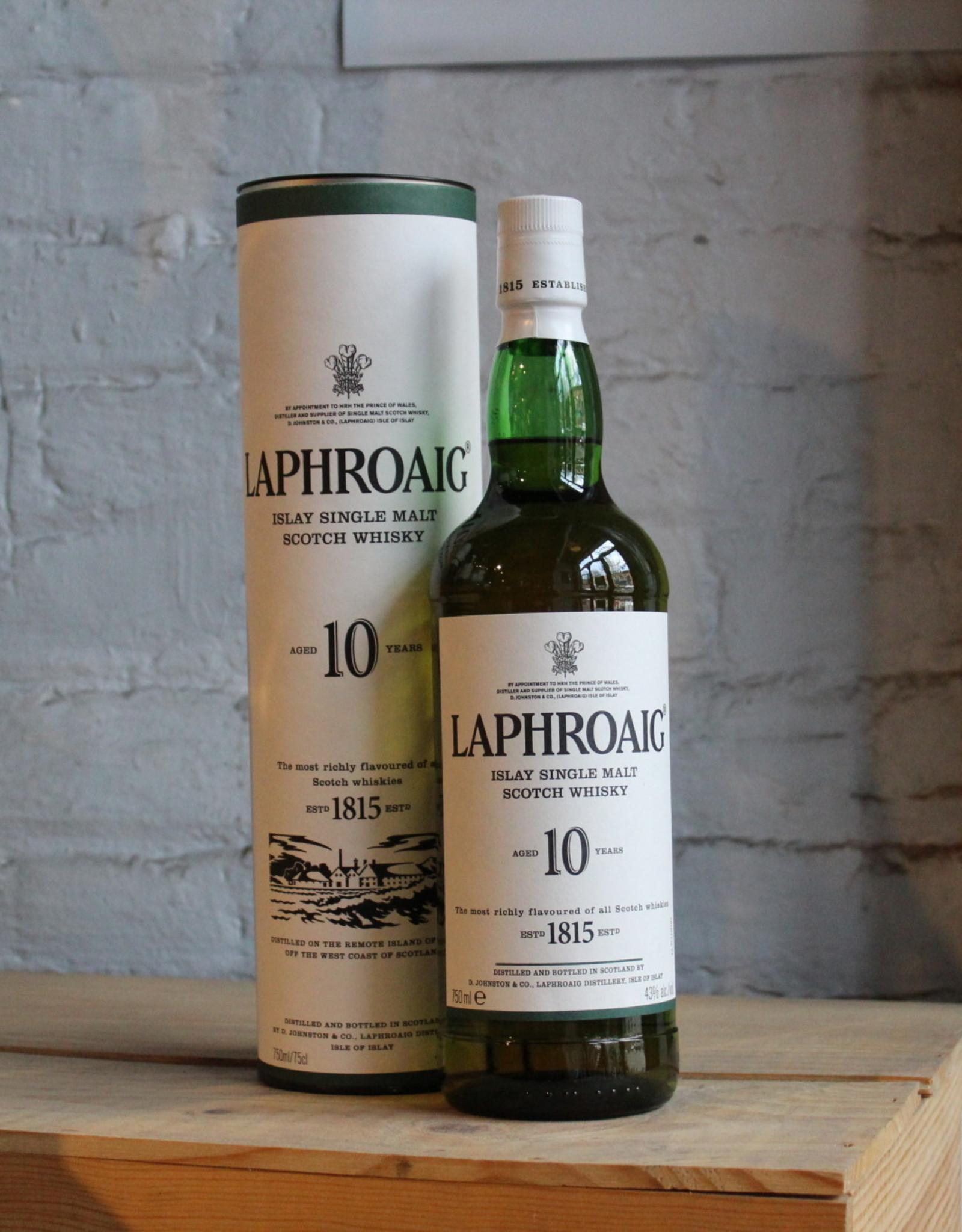Laphroaig 10yr Single Malt Scotch Whisky - Islay, Scotland (750ml)