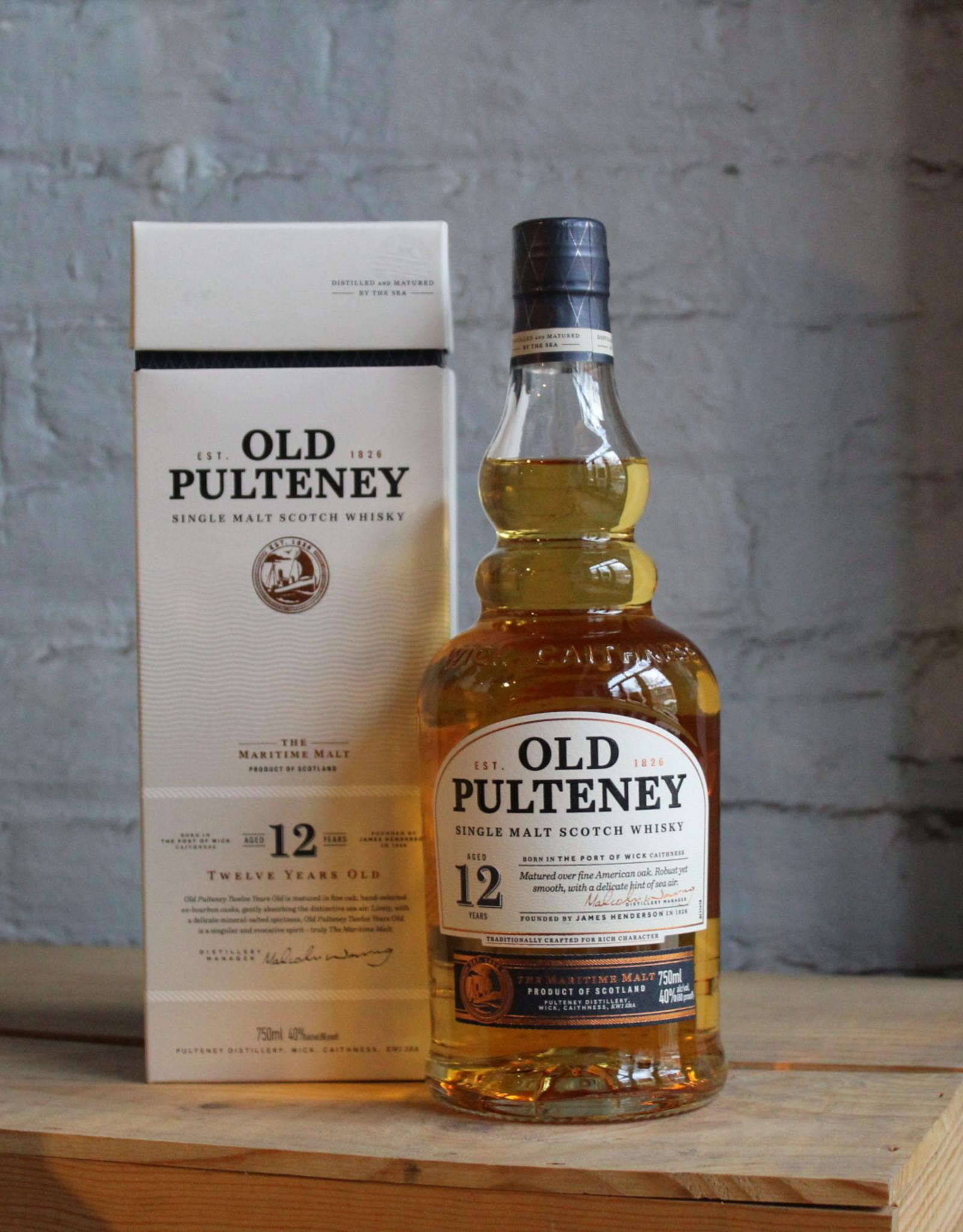 Old Pulteney 12yr Single Malt Scotch - Wick, Highlands, Scotland (750ml)