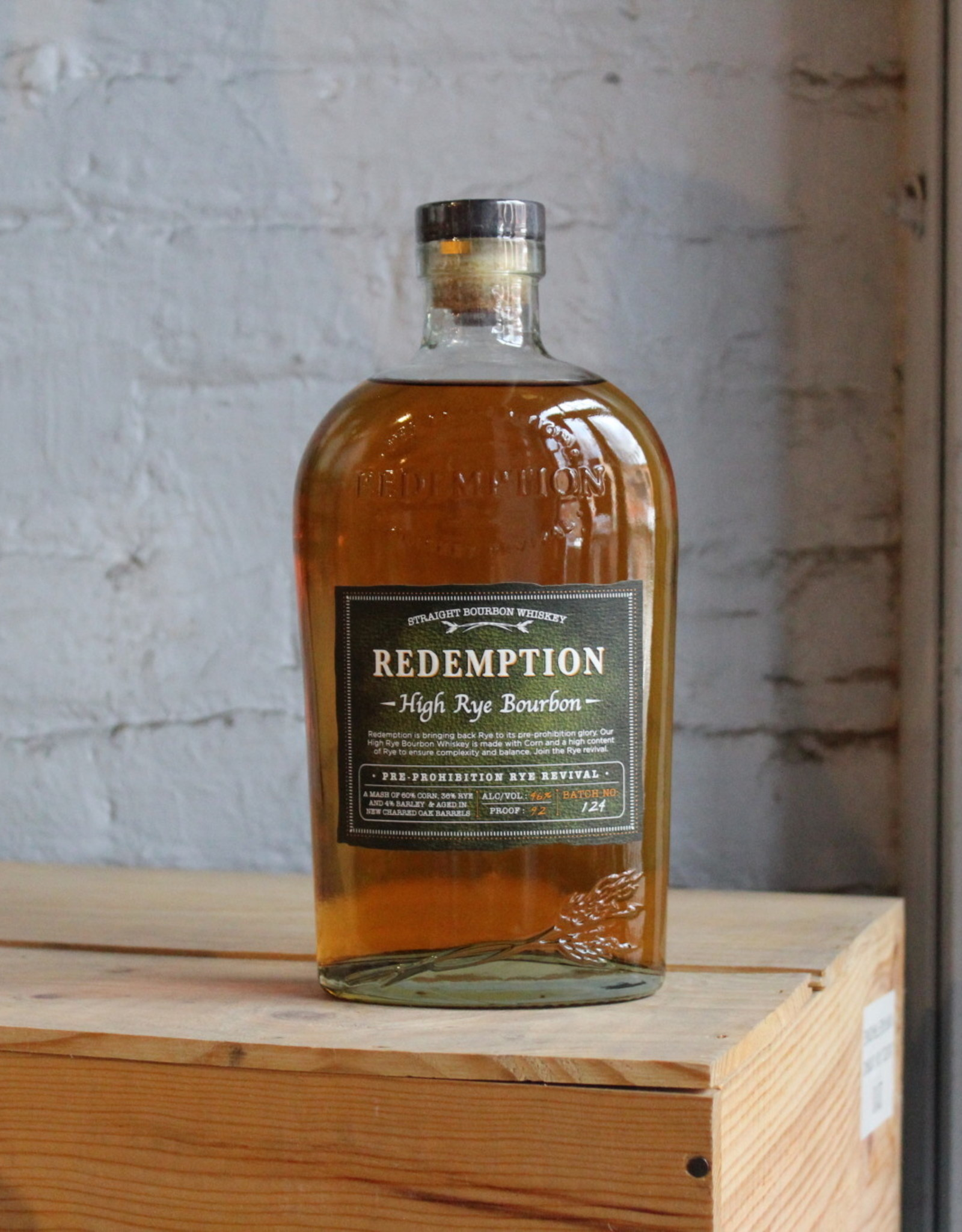 Redemption High-Rye Bourbon - Lawrenceburg, IN (750ml)
