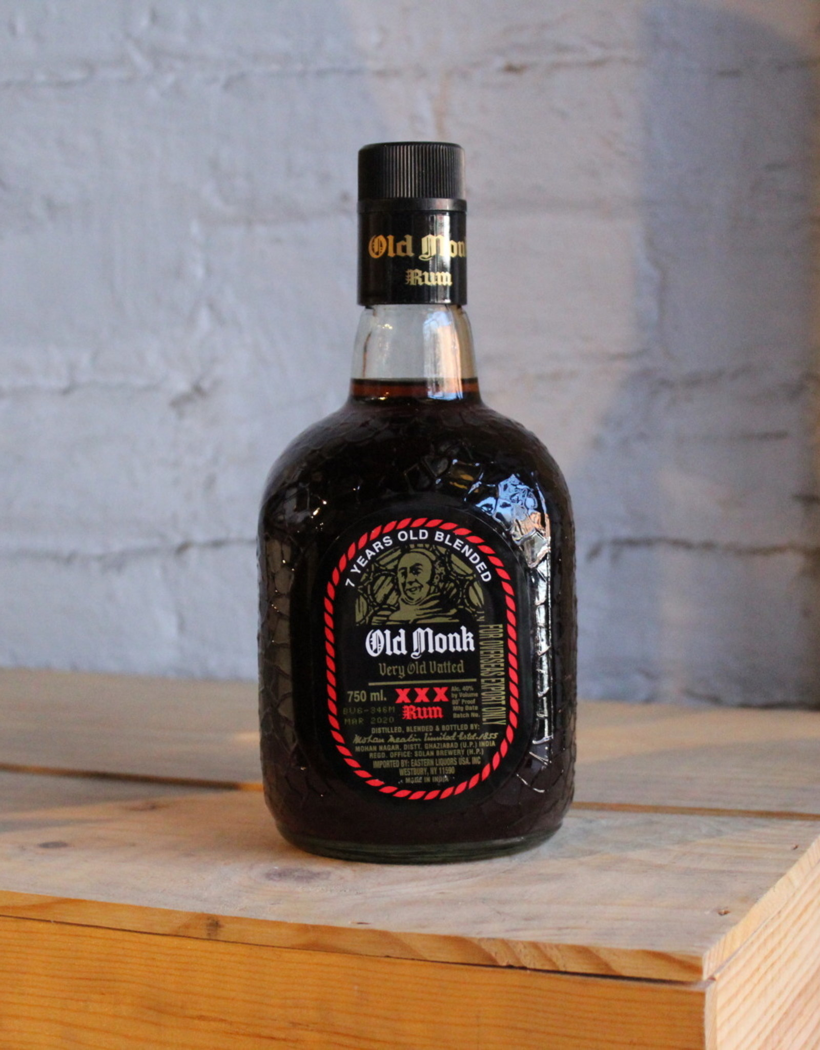 Old Monk 7 Yr Very Old Vatted XXX Rum - Ghaziabad, India (750ml)