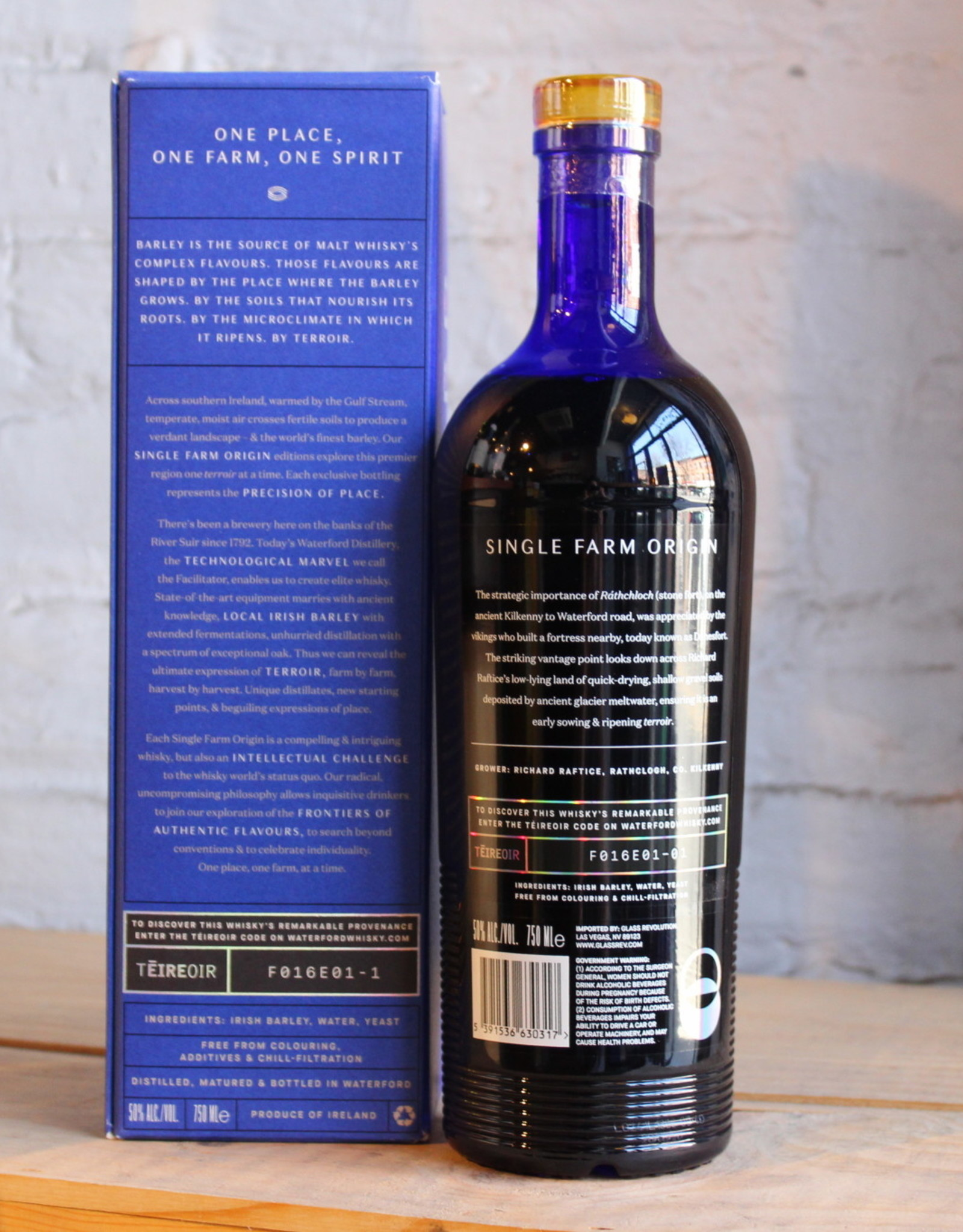 Waterford Distillery Rathclogh Single Farm Origin Irish Single Malt Whisky Edition 1.1 - Ireland  (750ml)