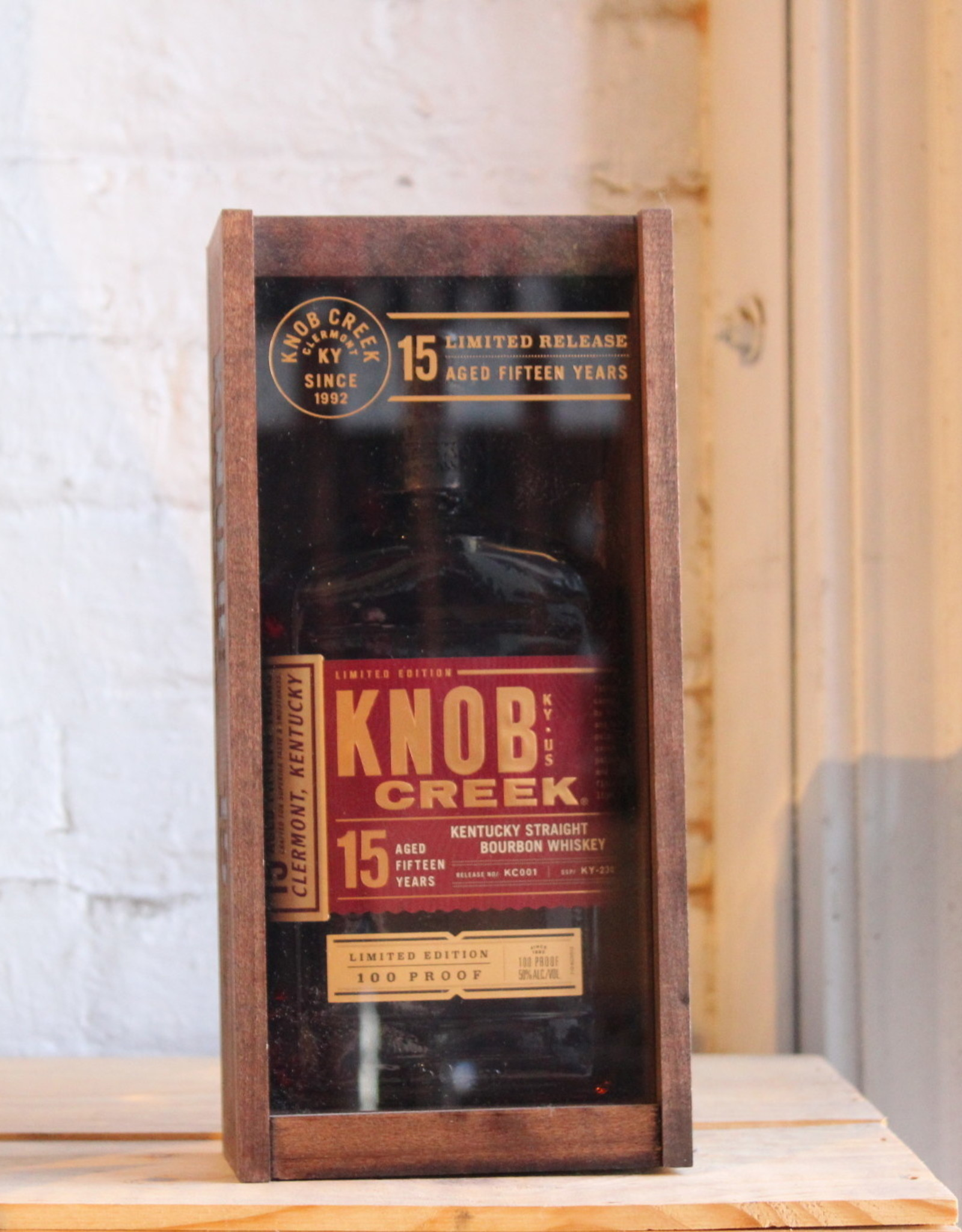 Knob Creek 15yr Ltd Edition 100 proof Straight Bourbon Whiskey - Clermont, Kentucky (750ml)