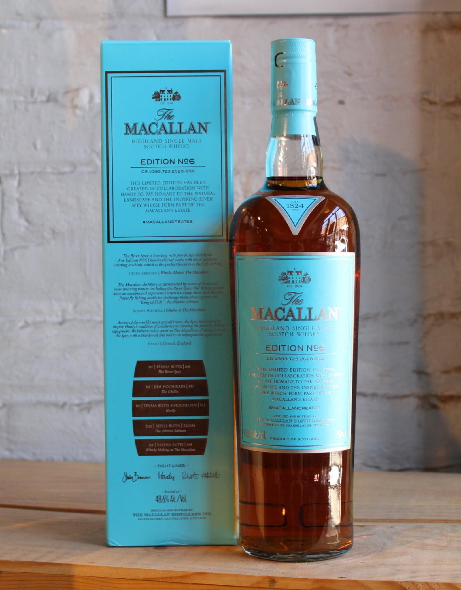 The Macallan Scotch Single Malt Edition No. 6 Scotch Whisky - Speyside, Highland, Scotland (750ml)