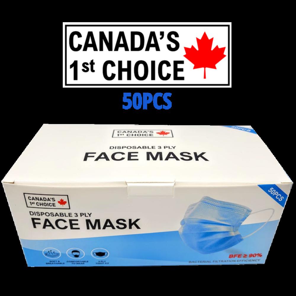 CANADA'S 1st CHOICE - FACE MASKS (50PCS)