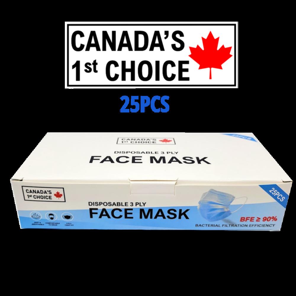 CANADA'S 1st CHOICE - FACE MASKS (25PCS)