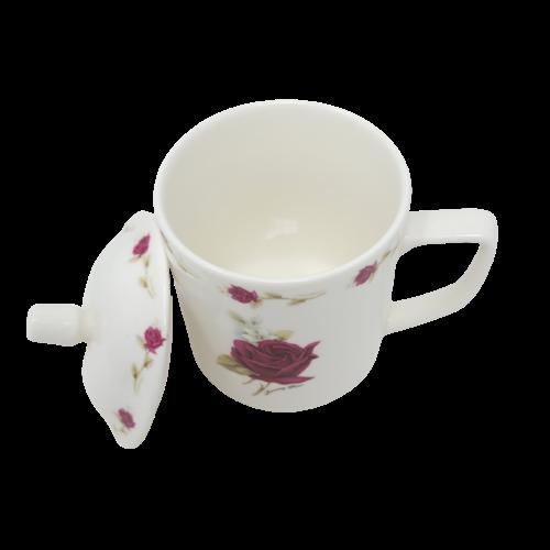 Ceramic Mug w/Lid