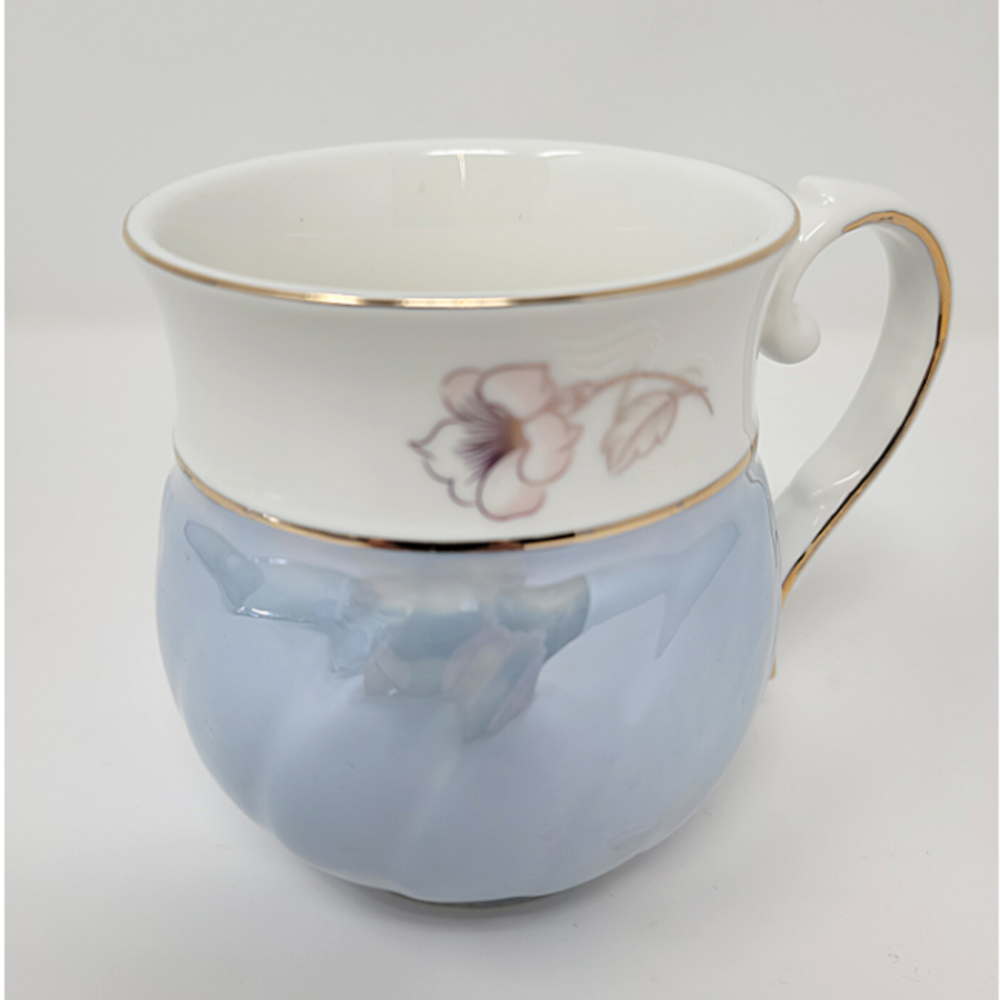 8Pcs Tea Set w/ Tray- Blue/Gold