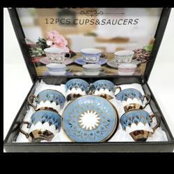 12PCS ARABIC STYLE CERAMIC TEA/COFFEE SET
