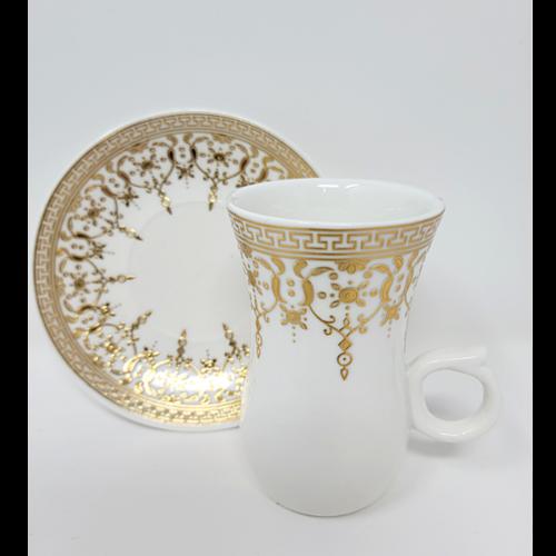 12Pcs Arabic Style Ceramic Tea Set