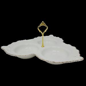 Ceramic Food Tray w/Handle