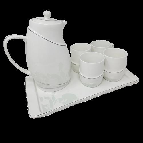 7Pcs Tea Set w/ Tea Pot (cup w/o handle)