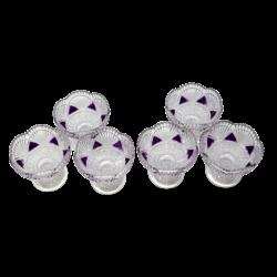 PIGMENTED 6PCS GLASS DESSERT BOWL