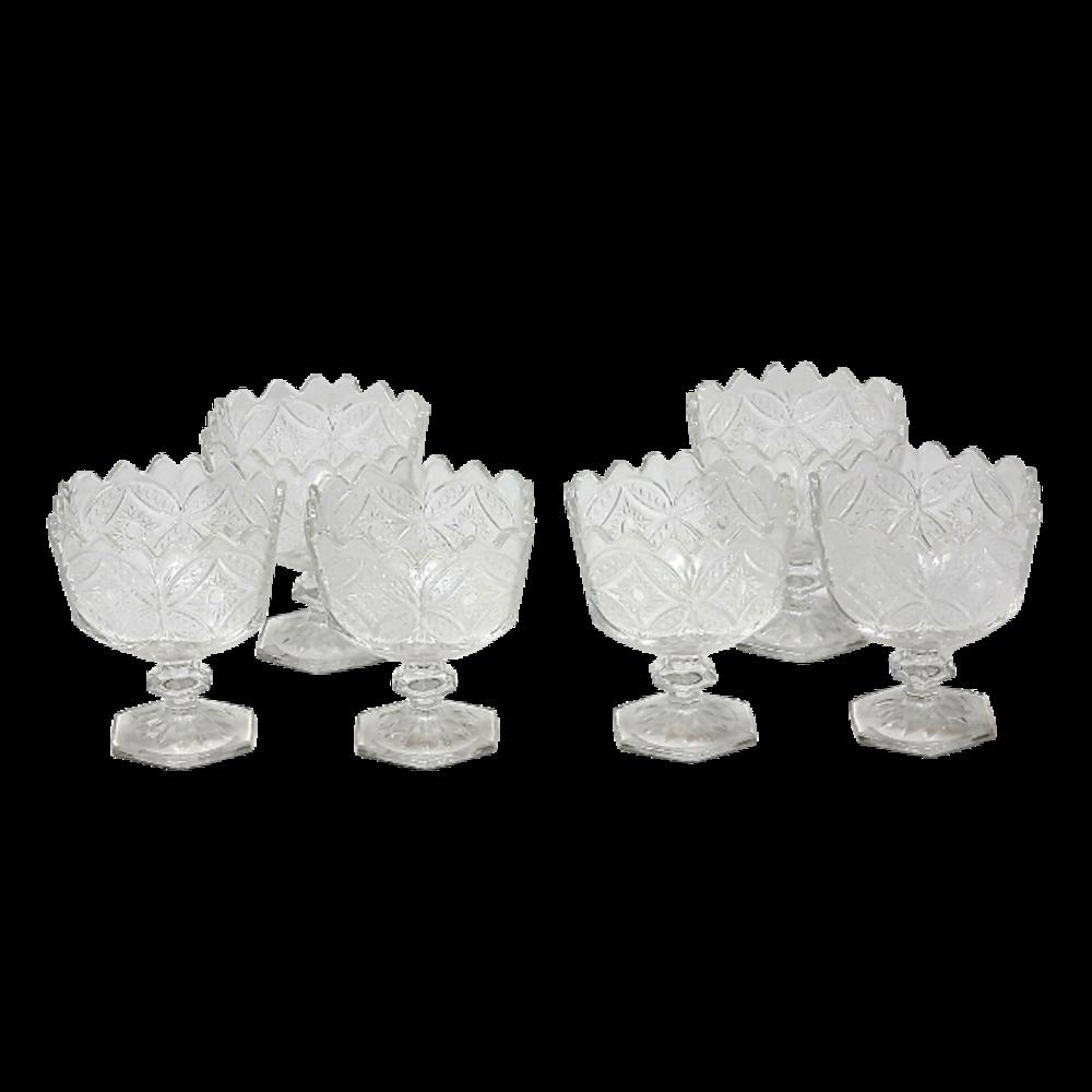 6Pcs Glass Dessert Bowls