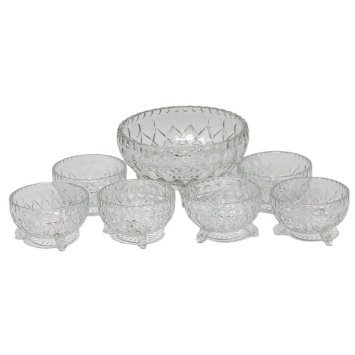 7Pcs Deli Glassware Dessert Bowls