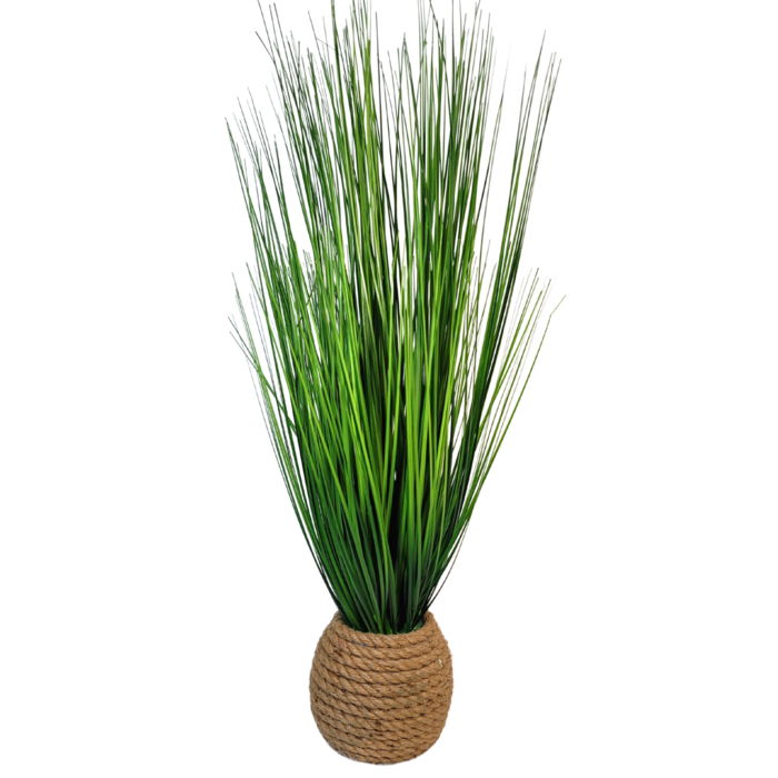 Artificial Wicker Potted Grass Plant