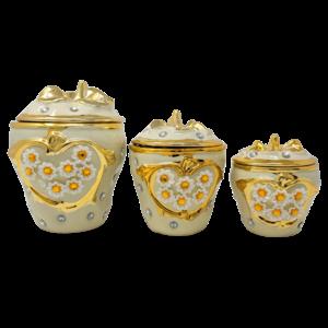 3Pcs Ceramic Canister