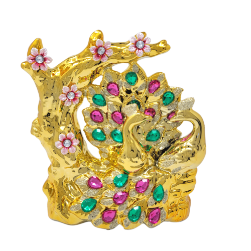 Ceramic Peacock Ornament