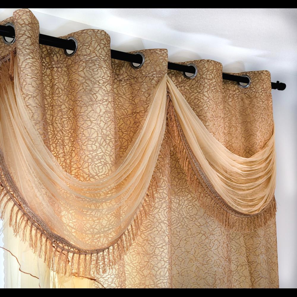 EMPIRE 2pcs Curtain Set w/ valance