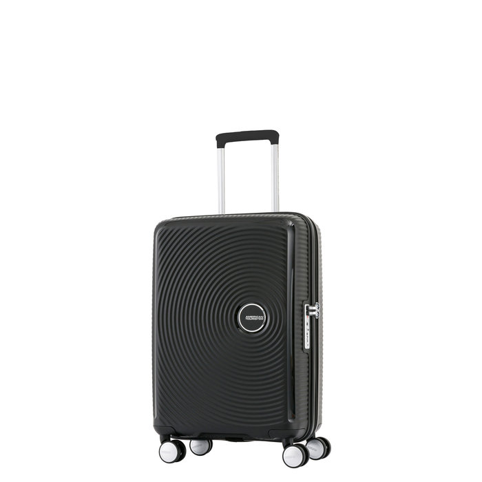 AMERICAN TOURISTER *American Tourister Curio Spinner Carry-On Luggage/ Colour: Bass Black