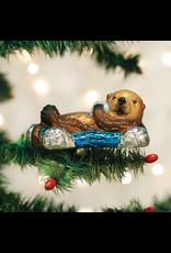 Old World Christmas Floating Sea Otter
