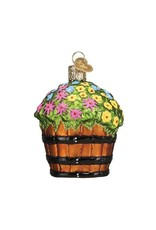 Whiskey Barrel With Flowers