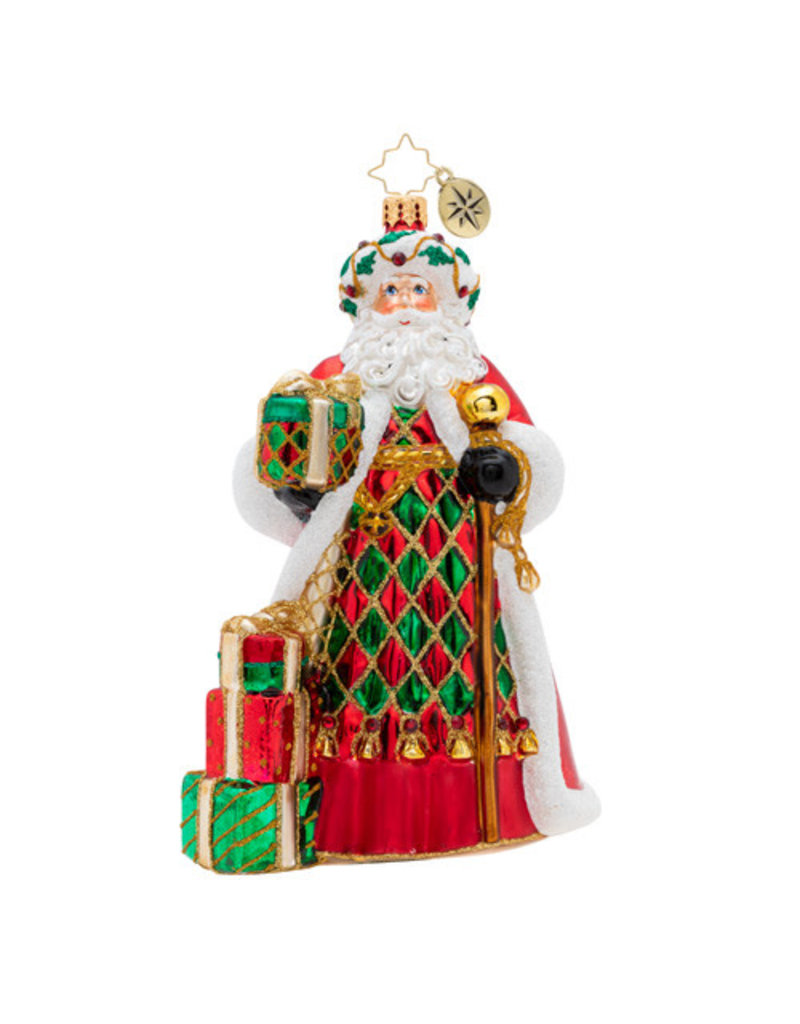 Holiday Harlequin Santa