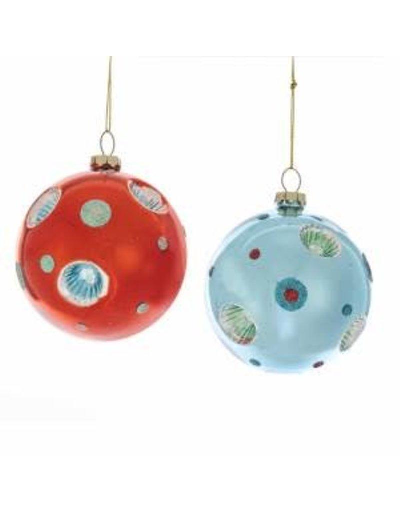 Glass Red/Blue Retro Ball