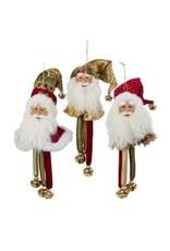 Red/Green Santa Head w/ Bells