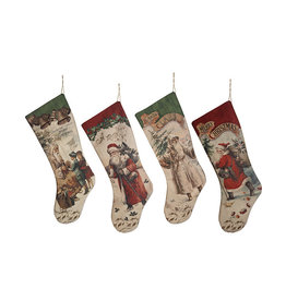 Vintage Santa Stocking