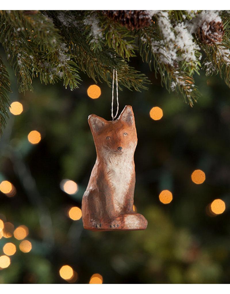 Fox Mache Ornament