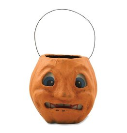 Scary Vintage Pumpkin Bucket