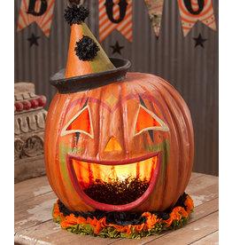 Large Clown Pumpkin Head