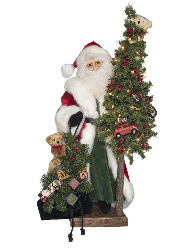 *C* Classic Santa w/ Bag of Toys Figure