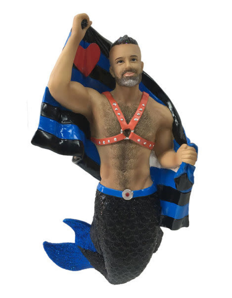 Leather Pride Merman Ornament