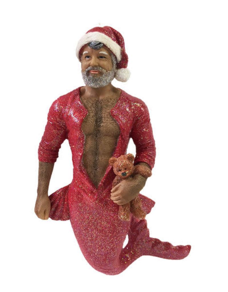 Bedtime Santa Merman Ornament