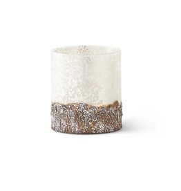 "3.25"" Glass Birch Bark Container"