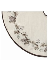 """54"""" Embroided Pine Branch Tree Skirt"""