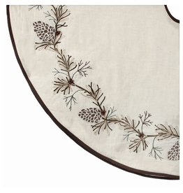 "54"" Embroided Pine Branch Tree Skirt"