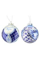 Handpainted Floral Glass Ornament