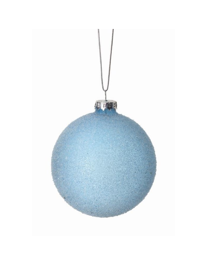 "3"" Micro Beaded Opaque Glass Ball Ornament"