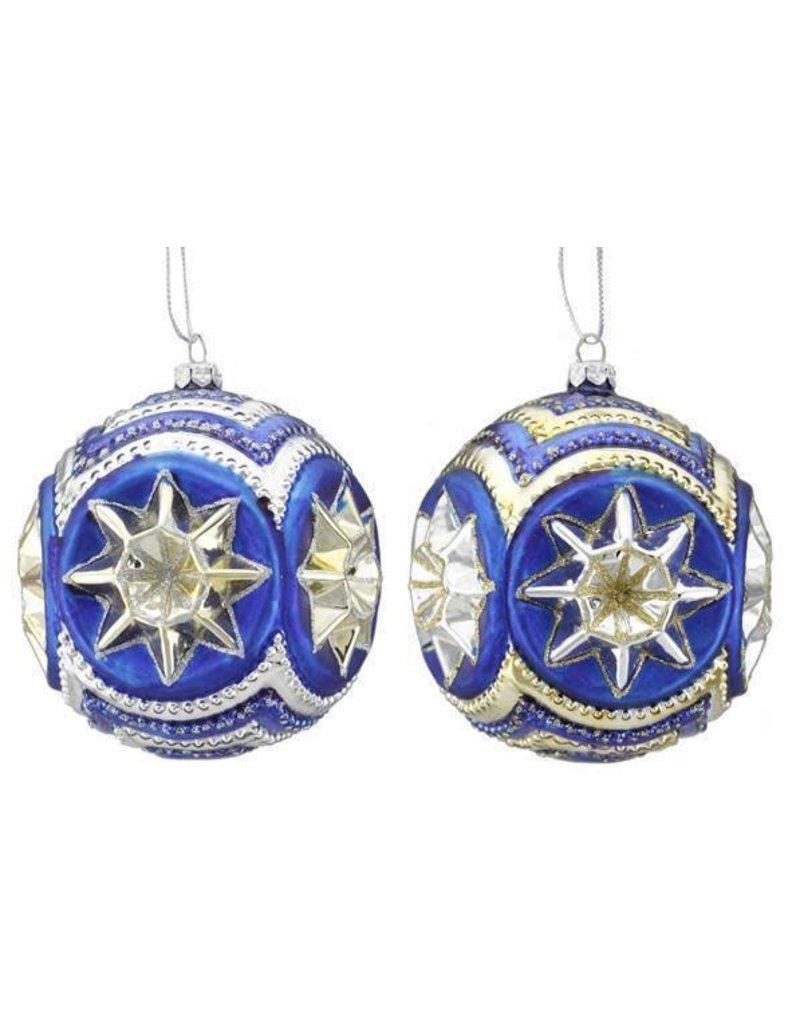100MM Star Glass Ball Orn
