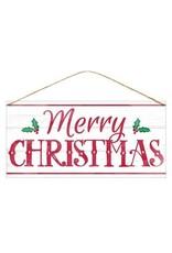 "12"" x 6"" Tin Merry Christmas"