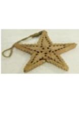 """Hanging Carved Star w/ Jute Orn 8"""""""