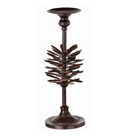 "15"" Metal Pine Cone Candle Holder"